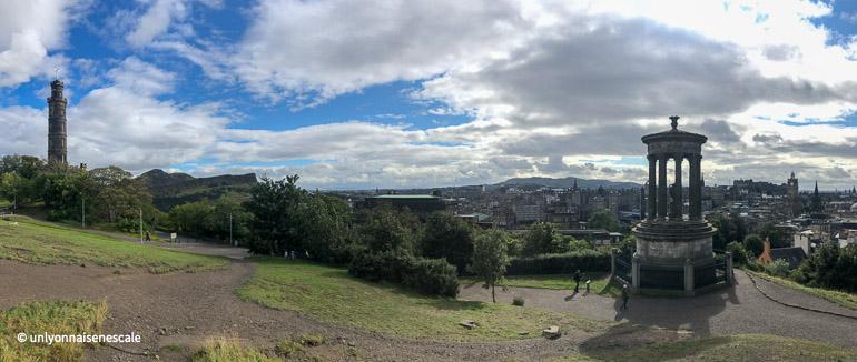 panoramique depuis calton hill