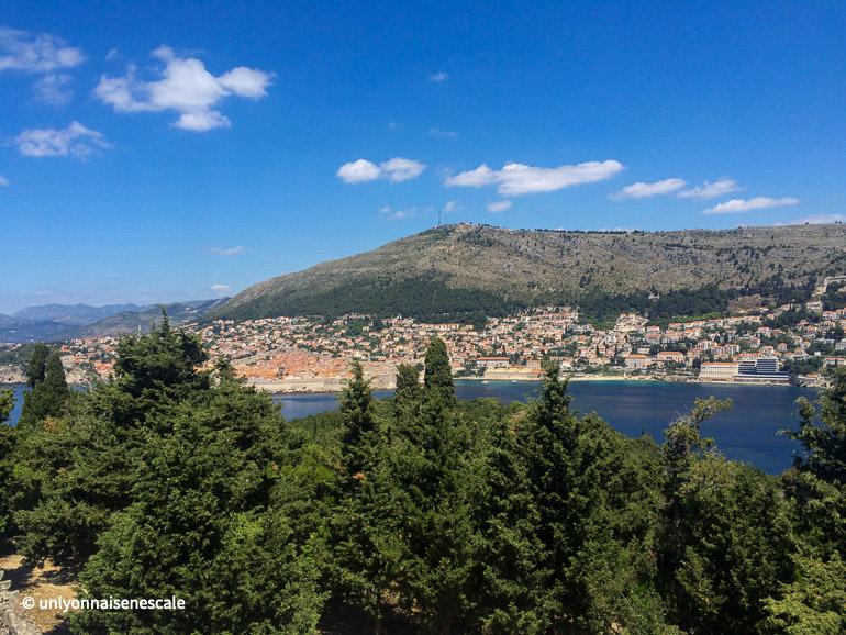 Dubrovnik vue depuis Lokrum