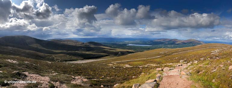 vue panoramique sur glenmore